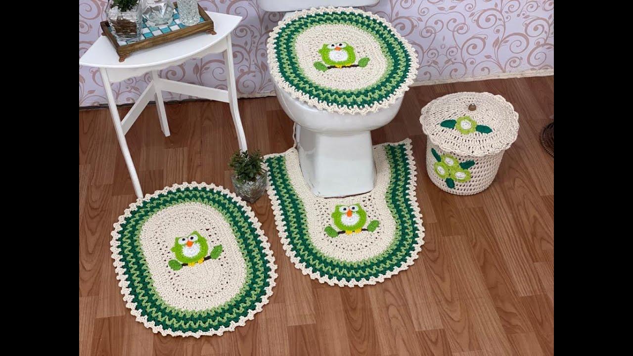 Tapetes de Crochê para o banheiro 💗