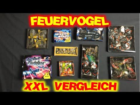 XXL Sonnen/Feuer-Vogel Vergleich | Nico/Weco/Lesli/Foxx/Pyroart