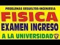 FISICA EXAMEN ADMISIÓN SOLUCIONARIO-UNIVERSIDAD NACIONAL DE INGENIERÍA-UNI