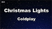Karaoke Christmas Lights Coldplay No Guide Melody Instrumental Youtube