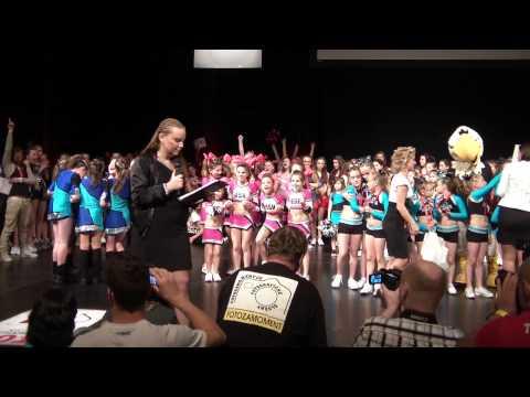 Mistrovství V Cheerleadingu 2014 - Vyhlášení Peewee Dance Freestyle
