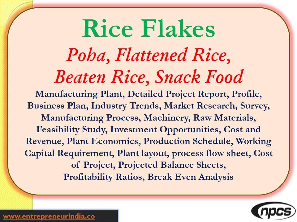 Rice FlakesPohaFlattened RiceBeaten RiceSnack FoodManufacturing