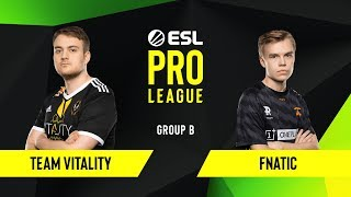 CS:GO - Fnatic vs. Team Vitality [Nuke] Map 1 - Group B - ESL EU Pro League Season 10