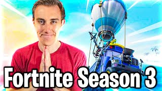 FORTNITE SEASON 3: First Time Gameplay & Battle Pass Reaction!
