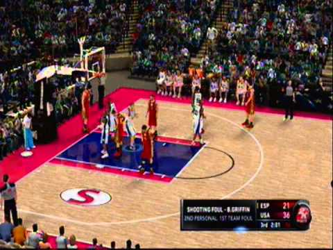 Team USA Basketball vs. Team Spain Basketball (Third Quarter) [NBA 2k11-PS3]