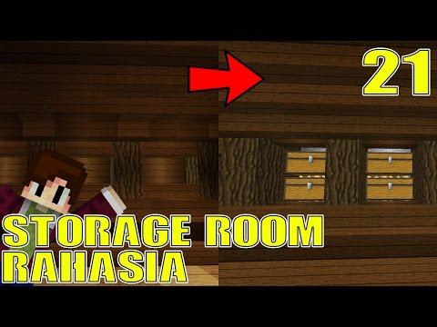 STORAGE ROOM RAHASIA PAKAI REDSTONE -  Minecraft Survival Indonesia #21