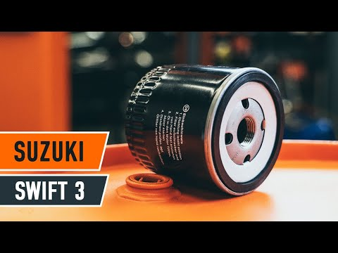How to replace oil filter and engine oil on SUZUKI SWIFT 3 Hatchback [TUTORIAL AUTODOC]