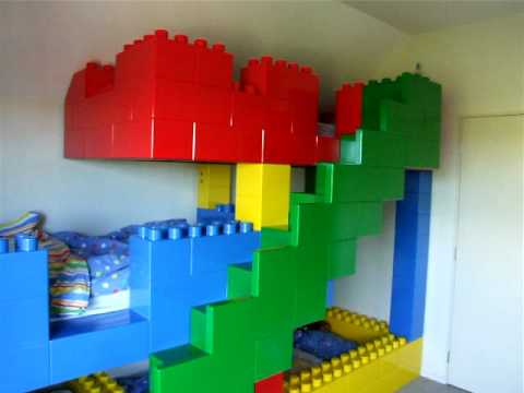 incredible bedroom loft bed boys | Incredible hand crafted Lego Bed - YouTube