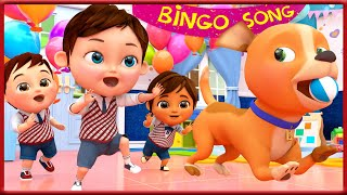 Bingo School Dog Song , London Bridge is Falling Down +More Nursery Rhymes  - Banana Cartoon [HD]