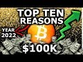 Top 10 Reasons Bitcoin Will Hit $100k By 2022. Crypto Mass Adoption Is Already Here!