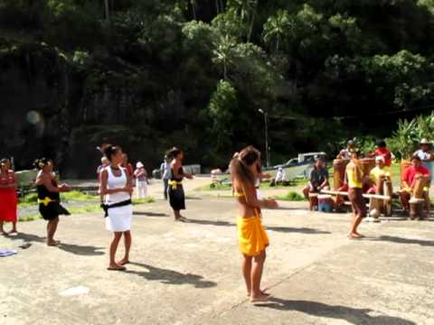 Tahitian Women Dancers on Remote Island of Fatu Hiva, Part 3