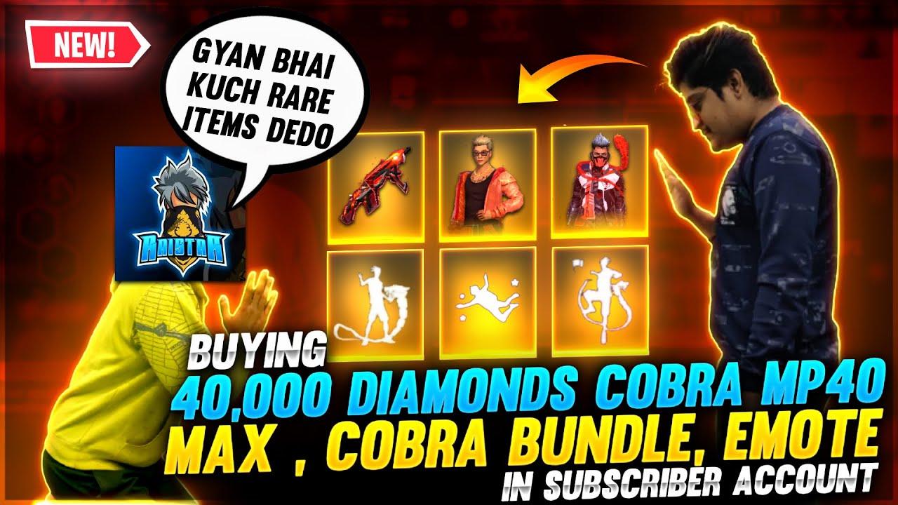 Buying 40,000 Diamond New Cobra Mp40 Max , Cobra Bundle,Superstar Weekend Bundle | Garena Free Fire
