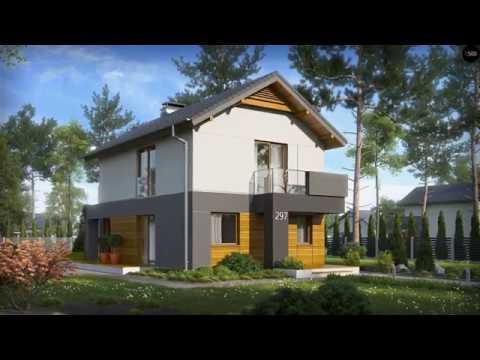 4M352 Проект дома с мансардой для узкого участка