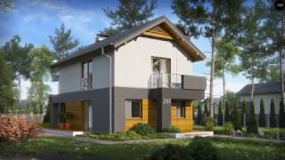 видео Проект деревянного одноэтажного дома c мансардой общей площадью 344.00 м2