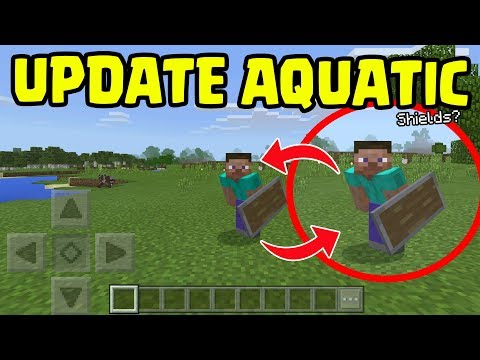 Minecraft PE 1.4 UPDATE Aquatic - Shields and Dual Wielding