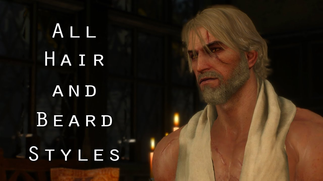 all new hair style the witcher 3 all hair and beard styles 6563 | maxresdefault