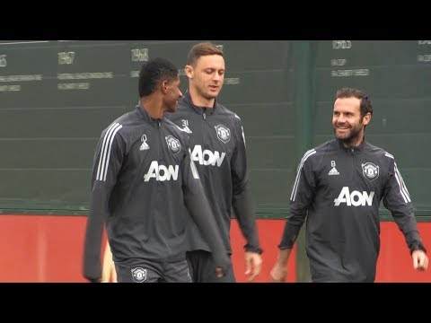 Manchester United Players Train Ahead Of Europa League Match With Astana
