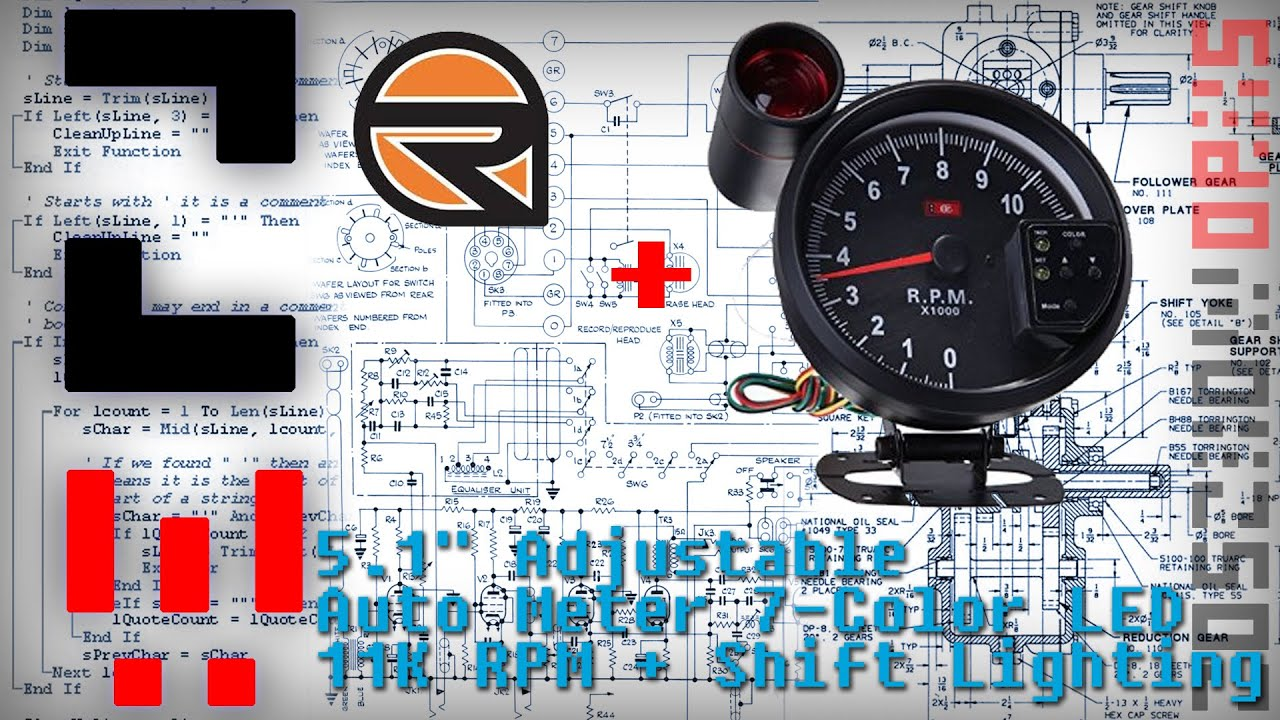 51 adjustable auto meter 7 color led tachometer gauge 11k rpm 51 adjustable auto meter 7 color led tachometer gauge 11k rpm shift lighting sciox Choice Image
