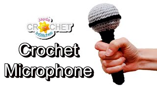 Crochet Microphone Tutorial - For the ROCK STAR in your life!