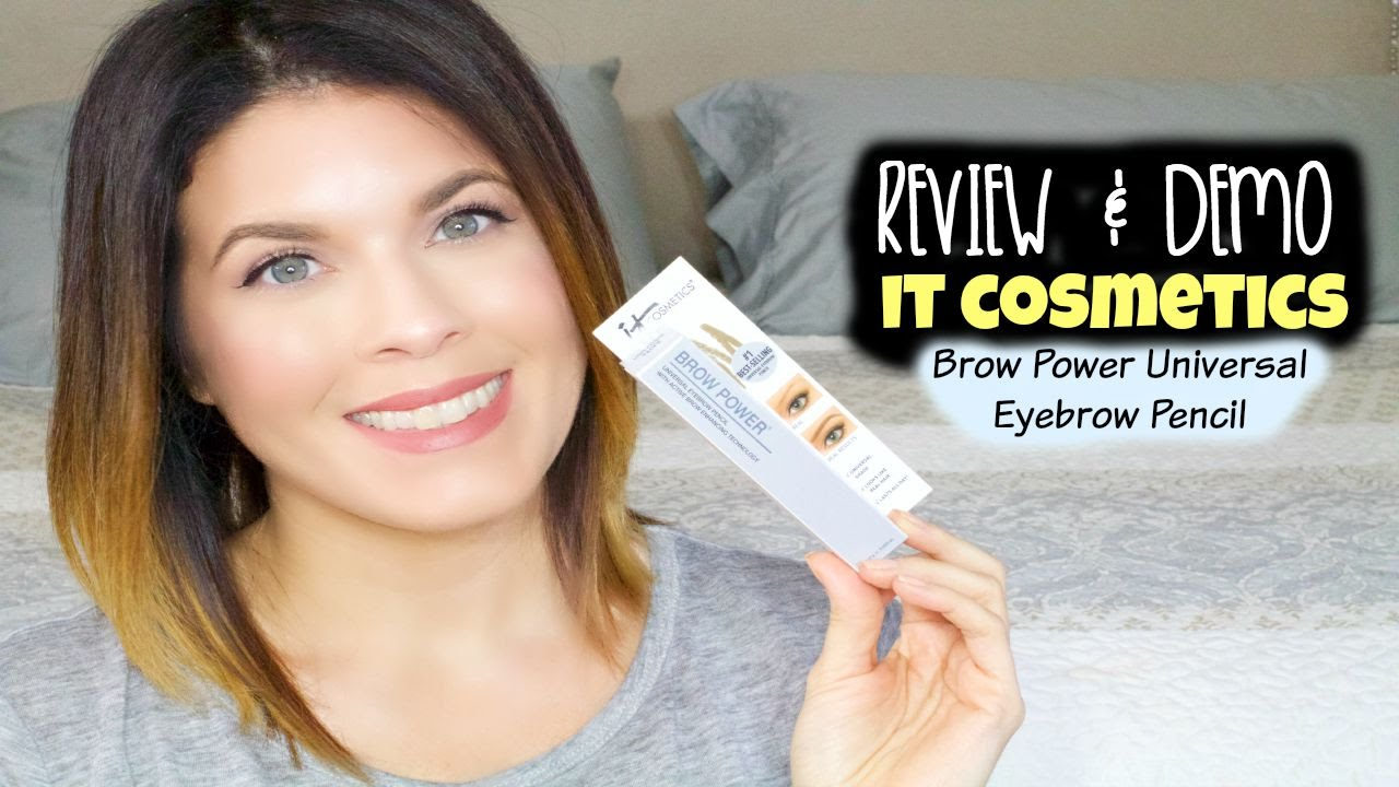 Review Demo It Cosmetics Brow Power Universal Pencil Youtube