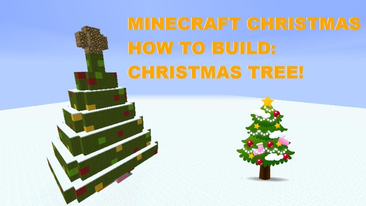 MINECRAFT CHRISTMAS HOW TO BUILD: CHRISTMAS TREE! - YouTube