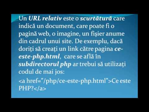 Tutorial, Curs HTML - URL Absolute Si Relative