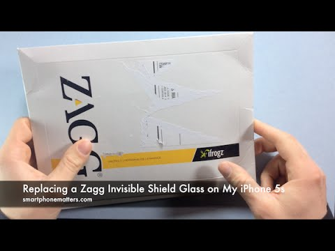 Replacing a Zagg Invisible Shield Glass on My iPhone 5s