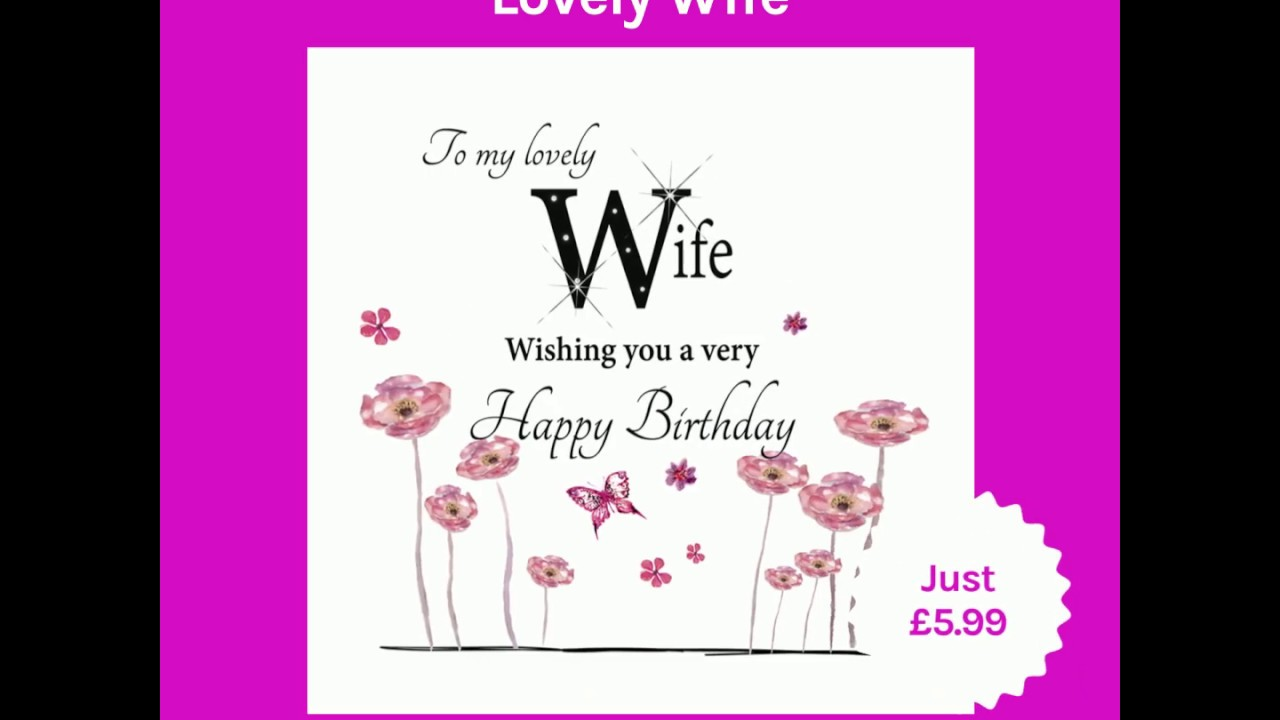 Large Birthday Card Lovely Wife 2019