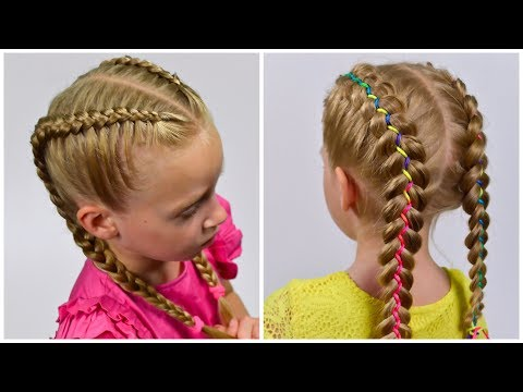 How to: Double Dutch Braids Simple & with Ribbon I Boxer Braids (Easy hairstyles #18)#LittleGirlHair