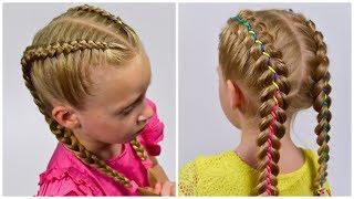 How to: Dutch Braid Simple & Dutch braid with Ribbon. BEAUTIFUL hai...