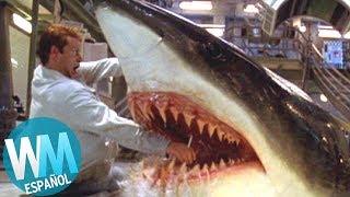 ¡Top 10 TERRORÍFICOS Ataques de Tiburones en Películas!