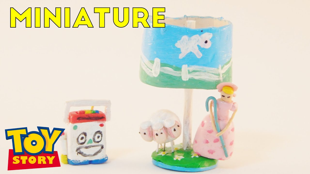 Mr. Mike And Little Bo Peep Lamp | Toy Story Miniature Room Box (1:12)
