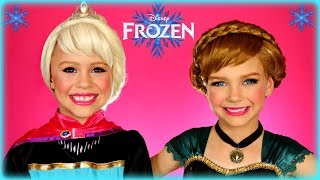 Disney's Frozen Elsa and Anna Coronation Makeup Tutorial