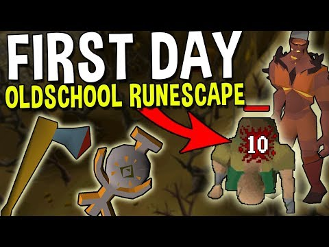 What Was Oldschool Runescape Like On The First Day Ever! [OSRS]