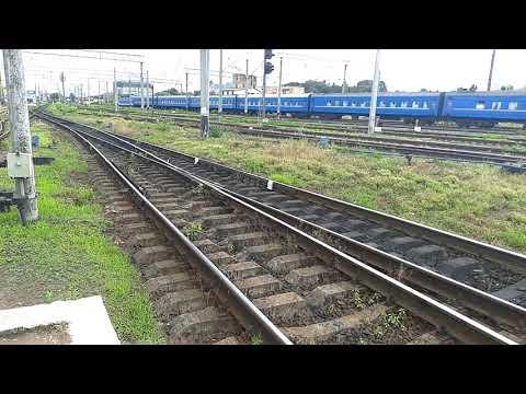 Поезд № 132 Ровно - Николаев отправляеться со ст. Ровно Украина 23.06.2019