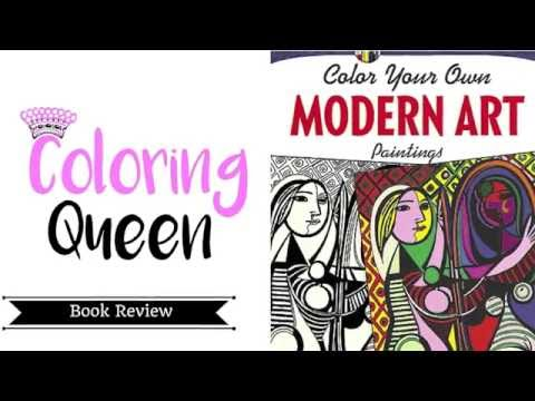Modern Art Coloring Book Review