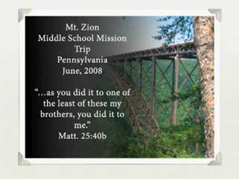 Mt Zion Middle School Mission Trip