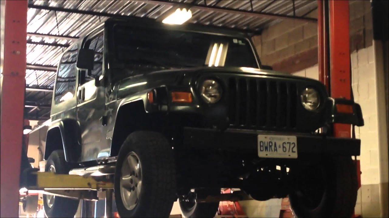 jeep wrangler tj frame rust repair [ 1280 x 720 Pixel ]