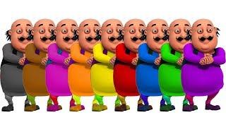 Baby Learn Colors Motu Patlu Paint Bucket Coloring ABC Song Nursery Rhymes For Kids