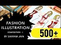Fashion Illustration Composition - I | By Sanyam Jain