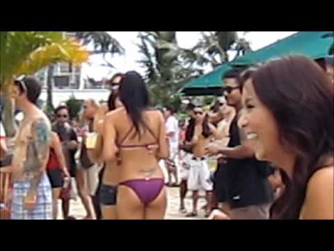 Volcano Bikini Pool Party at QK hotel.wmv