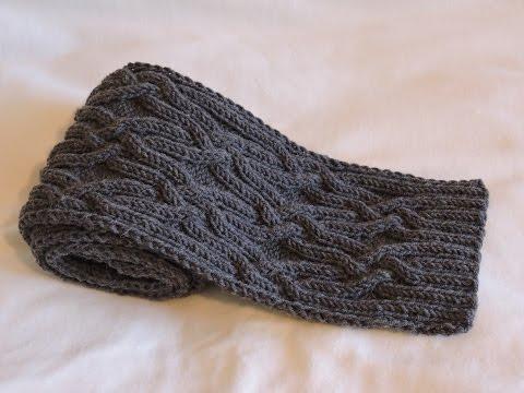Вязание спицами шарфы для мужчин узоры и схемы для мужчин