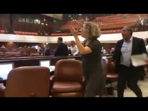MK Hanin Zoabi Knesset altercation