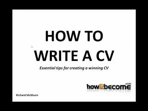 how to write a cv tips advice and guidance youtube - Writing A Cv Tips