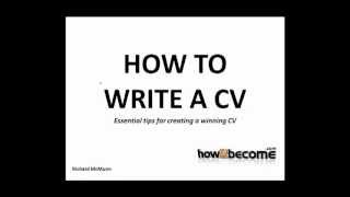 How To Write A CV - Tips, Advice and Guidance