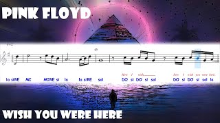 Pink Floyd Wish You Were Here Score Partitura Youtube