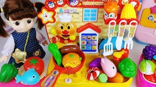 Kitchen and food cooking toys baby doll house play - ToyMong TV 토이몽