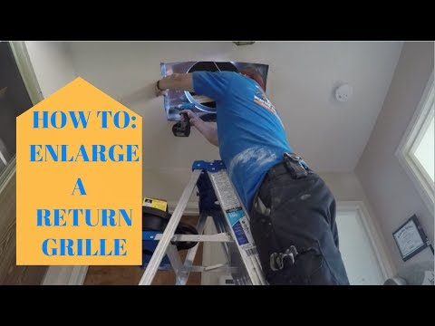 How To Enlarge a Return - More Air Flow - HVAC Install