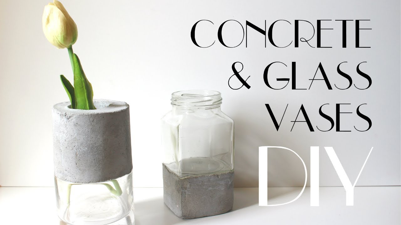 Diy concrete and glass vases youtube floridaeventfo Images