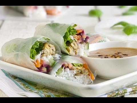 Fresh Thai Spring Rolls Low Fat Vegan